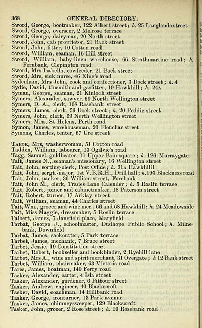 382 scottish post office directories towns dundee for 66 st georges terrace post office