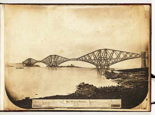 (1) Imaginative depiction of the completed Forth Rail Bridge