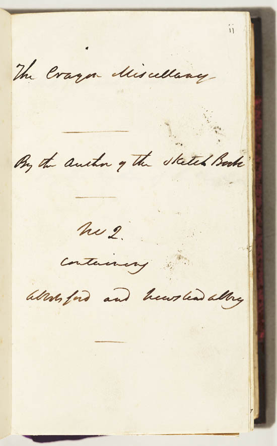Manuscript of Washington Irving's  'Abbotsford and Newstead Abbey', 1835 - MS42314
