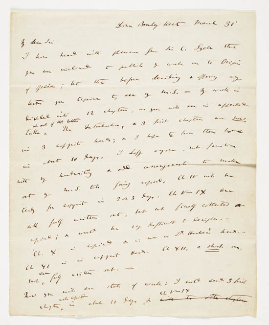 Letter of Charles Darwin to John Murray, 31 March 1859 - MS.42153 ff.12-13