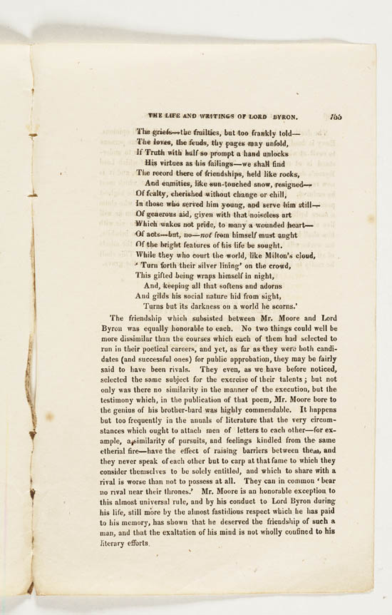 Sir Walter Scott's eulogy for Lord Byron 1824 - MS.43559