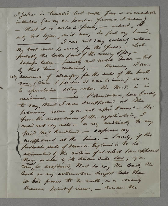 Letter of Herman Melville to John Murray, 29 October 1847 - MS.42477 ff.15-16
