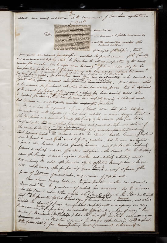 Sir Robert Peel's speech on the Repeal of the Corn Laws, 1846 - MS.42518