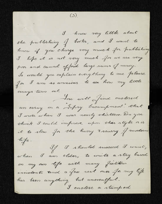 Letter of Renee Hopkins to John Murray, 27 March 1921 - Ms.40577