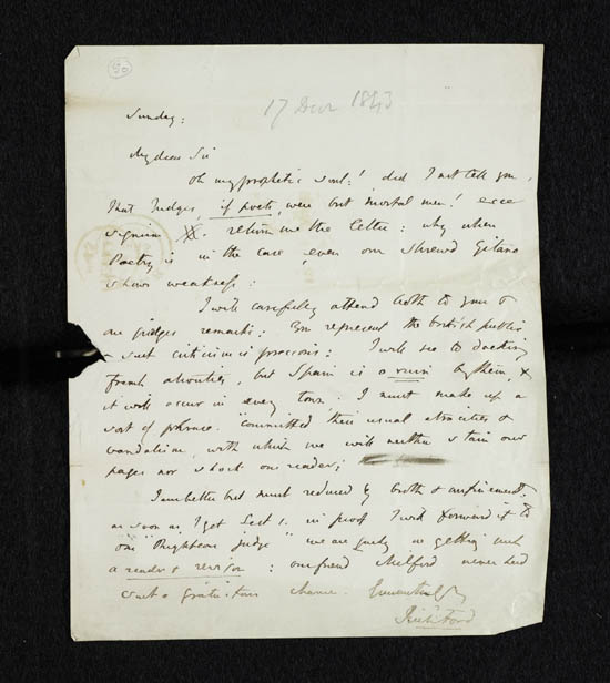 Letter of Richard Ford to John Murray, 17 December 1843 - MS.42224