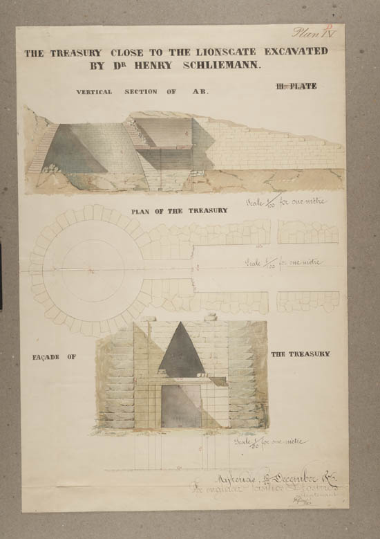 Plans of excavations made by Dr. Heinrich Schliemann c.1876 - Acc.12973/14