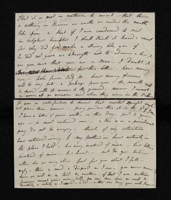 Letter of Lady Caroline Lamb to Lord Byron, 3 June 1814 - MS.43558