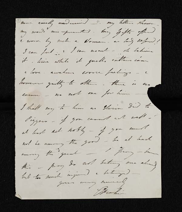 Letter of Lady Caroline Lamb to John Murray, February 1814 - MS. 43560