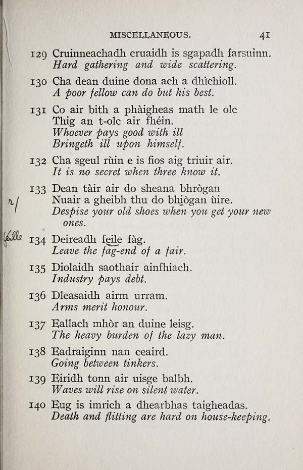 gaelic sayings