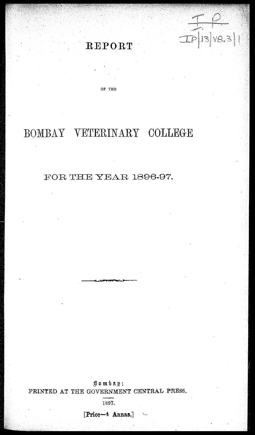 front cover papers > medicine veterinary individual page