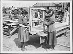 D.2847Constructing window frames for huts in France