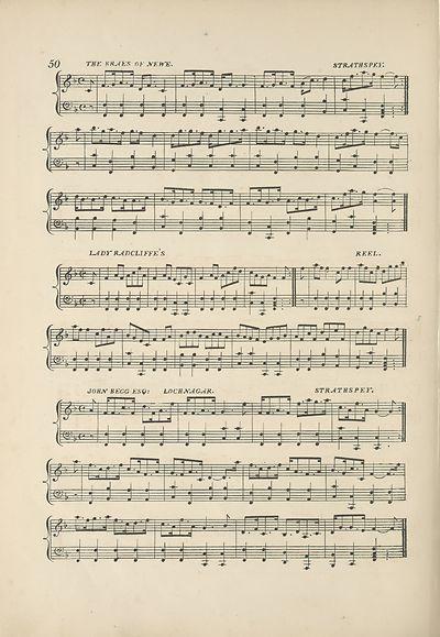 (62) Page 50 - Braes of Newe strathspey  -- Lady Radcliffe's reel -- John Begg Esq: Lochnagar strathspey