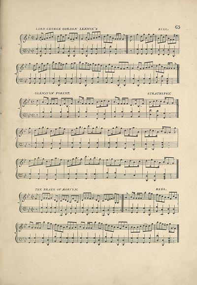 (77) Page 65 - Lord George Gordon Lennox's reel -- Glenavon Forest strathspey -- Braes of Morven reel