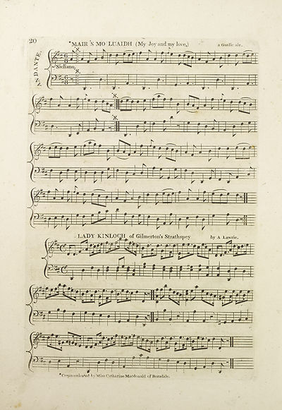 (26) Page 20 - Mair's mo luaidh (My joy and my love) -- Lady Kinloch of Gilmerton's strathspey