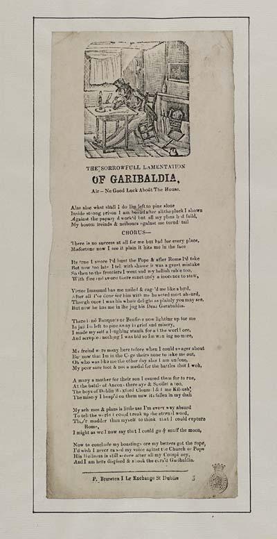 (1) Sorrowfull lamentation of Garibaldia