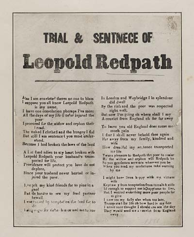 (3) Trial & sentence of Leopold Redpath