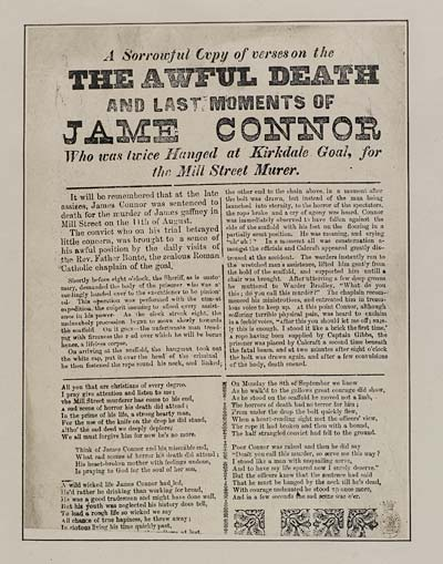 (4) Sorrowful copy of verses on the awful death and last moments of Jame Connor