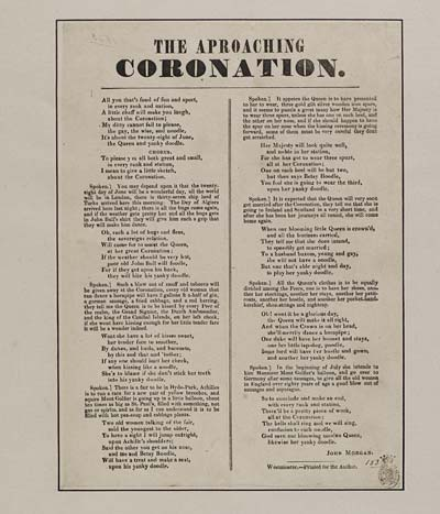 (5) Approaching coronation