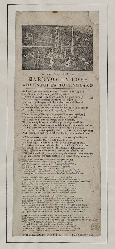 (7) New song call'd the Garryowen boys adventures to England