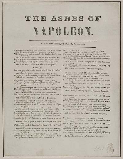 (16) Ashes of Napoleon