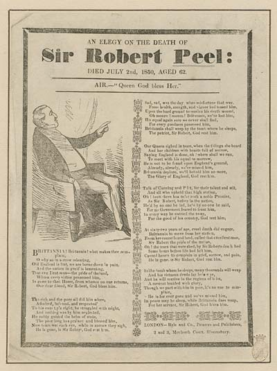 (12) Elegy on the death of Sir Robert Peel