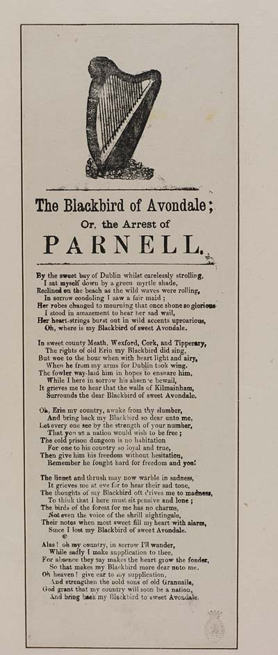 (22) Blackbird of Avondale; or, the arrest of Parnell