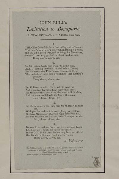 (11) John Bull's invitation to Bonaparte