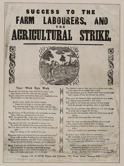 (11) Success to the farm labourers, and the agricultural strike