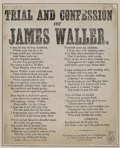 (25) Trial and confession of James Waller