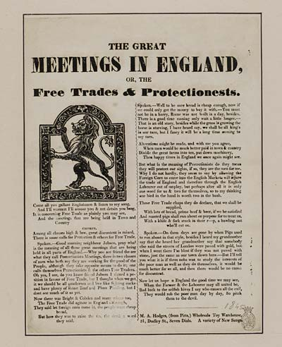 (16) Great meetings in England, or, the free trades & Protectionests [sic]