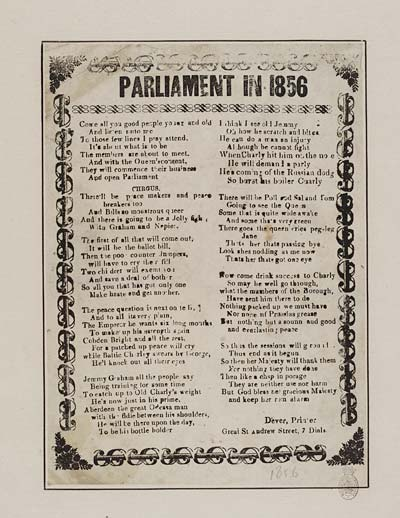 (34) Parliament in 1856