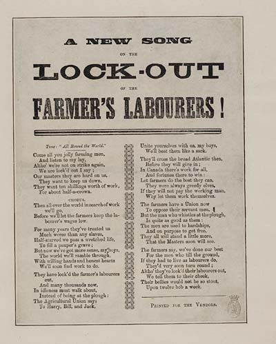 (18) New song on the lock-out of the farmer's labourers!