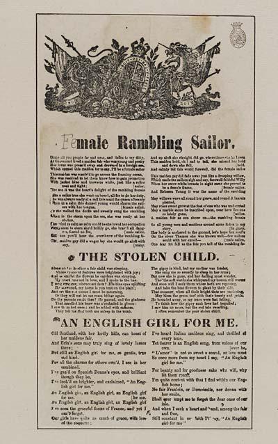 (25) Female rambling soldier