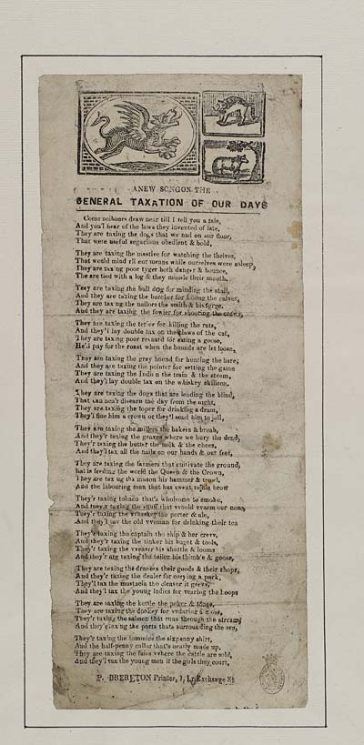 (37) New songon [sic] the general taxation of our days
