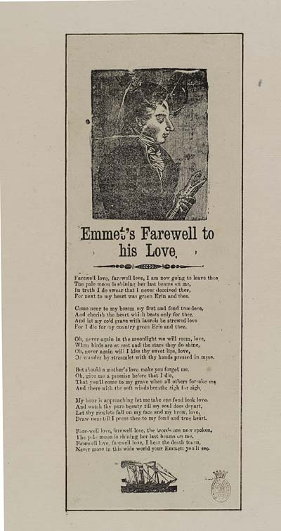 (38) Emmet's farewell to his love