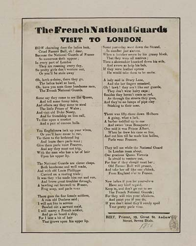 (44) French National Guards visit to London