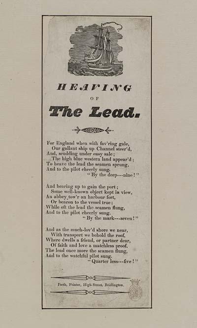 (47) Heaving the lead
