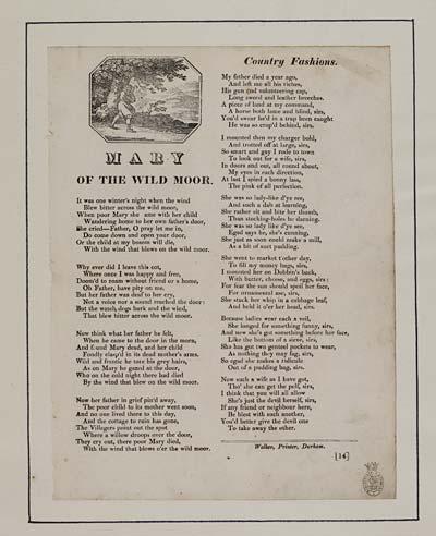 (16) Mary of the wild moor