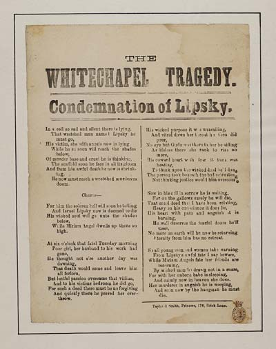 (46) Whitechapel tragedy