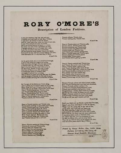 (11) Rory O'More's description of London fashions