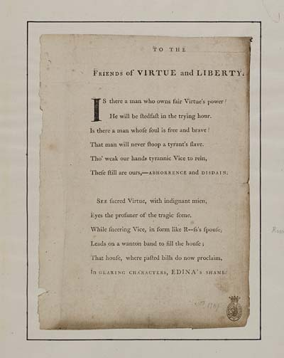 (15) To the friends of virtue and liberty