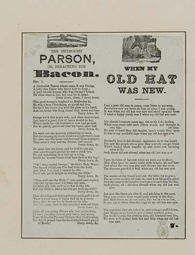 (44) Methodist parson, or, Preaching for bacon
