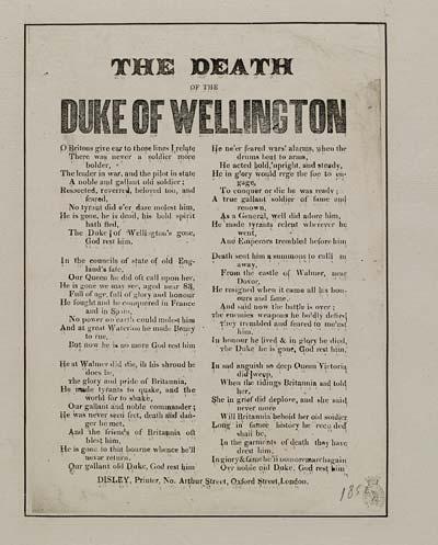 (41) Death of Duke of Wellington