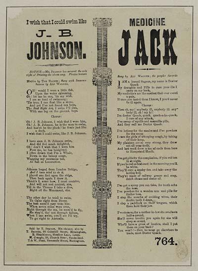 (69) I wish that I could swim like J B Johnson