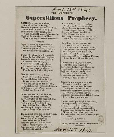 (24) Wonderful superstitious prophecy
