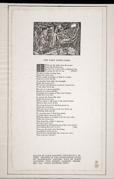 (16) Fairy fowk's rade