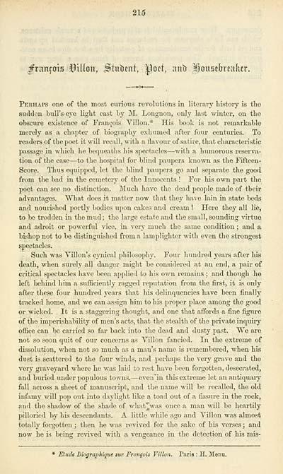 (15) Page 215 - François Villon, student, poet, and housebreaker