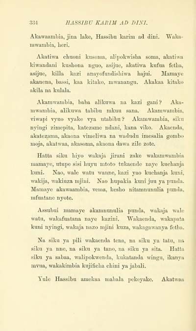 354) - J  F  Campbell Collection > Swahili tales - Early