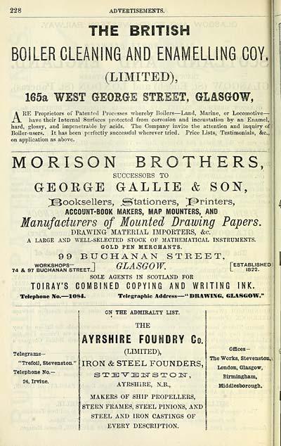 1594) - Scottish Post Office Directories > Towns > Glasgow > 1828