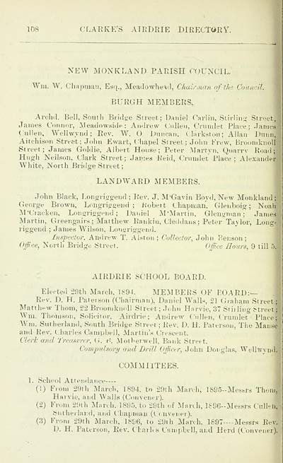 120) - Towns > Airdrie > 1896 - Clarke's Airdrie directory
